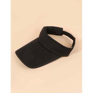 NEW! Black Visor Sun Protection Hat